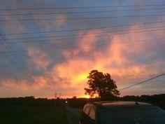 Morning ablaze
