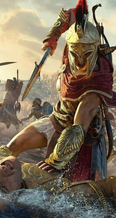 PlayStation® 4 Console Kassandra Assassins Creed Odyssey so cool. - - Ideas of - Kassandra Assassins Creed Odyssey so cool. Greek Warrior, Fantasy Warrior, Fantasy Art, Arte Assassins Creed, Assassins Creed Odyssey, Assassins Creed Origins, Assassin's Creed Wallpaper, Wallpaper Desktop, Spartan Tattoo