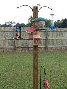 My multiple bird feeder & water station , love it
