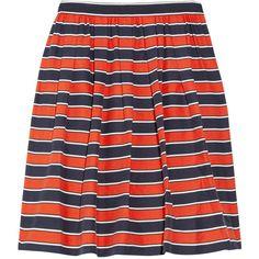 J.Crew Gondola striped woven silk mini skirt ($60) ❤ liked on Polyvore
