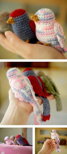 Mesmerizing Crochet an Amigurumi Rabbit Ideas. Lovely Crochet an Amigurumi Rabbit Ideas. Crochet Bird Patterns, Crochet Birds, Crochet Amigurumi Free Patterns, Cute Crochet, Crochet Animals, Crochet Dolls, Knitting Patterns, Knit Crochet, Crocheted Flowers