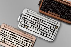Elretron believes that a keyboard for typing is timeless, and it is still needed to a great effect. So with the aid of a German company, Cherry, Elretron developed Penna, a sole keyboard used in conjunction with electronic devices. Bluetooth Keyboard, Computer Keyboard, Keyboard Keys, Tech Gadgets, Cool Gadgets, Office Gadgets, Electronics Gadgets, Funda Ipad Pro, Die Macher