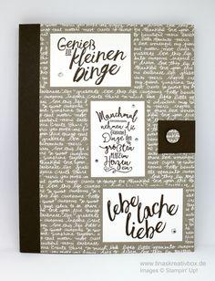 Notizbuch mit Stift, mit Produkten von Stampin' Up!