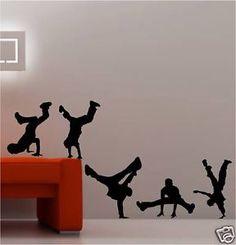 Break Dance Street Vinyl Wall Art Sticker Mural Dancer | eBay