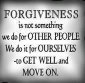 Wow, wish I could get this through my thick skull....I still feel like crap after I forgive!