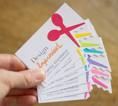 Stand out with 25 DIY business cards. Unique Business Cards, Business Card Design, Creative Business, Craft Business, Design Salon, Design Design, Design Layouts, Brochure Design, Design Ideas