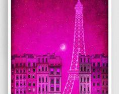 20 % OFF vente: Paris illustration Tour Eiffel à PARIS par tubidu