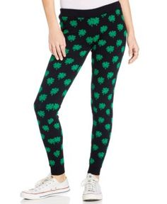 Sugar Rush Juniors' Knit Shamrock Leggings by: Sugar Rush @Macys (US)  *This is an affiliate link. Thanks for shopping!