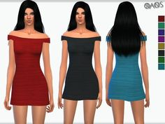 New Dress ^_^ Found in TSR Category 'Sims 4 Female Everyday'