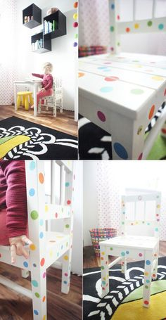 IKEA HACKS - dotted chair