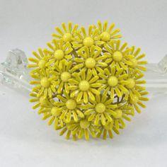 Stunning Vintage Enameled Yellow Daisies Brooch by VintageCreekside, $28.00