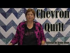"http://missouriquiltco.com -- Jenny Doan shows how to make the quick and easy Chevron Quilt.  It's an awesome project that anyone can do using layer cakes (10"" precut squares of fabric.  To get the materials needed to do this project, follow the links below.    Layer Cakes (precut 10"" squares of fabric) - the best selection on the internet  http://..."