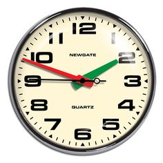 Brixton Wall Clock - Chrome