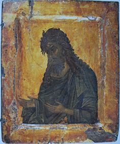Byzantium, century Title: Leaf of Triptych: St John the Baptist Place: Byzantium Date: century Technique: tempera on panel, with coloured lacquer Dimensions: cm Byzantine Icons, Byzantine Art, Religious Images, Religious Art, Saint Catherine's Monastery, Constantine The Great, Saint Jean, John The Baptist, Fresco