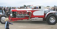 Blastolene built this street rod called Sneaky Pete from a Peterbuilt 18-wheeler tractor rig