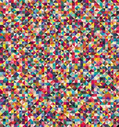 Geometric Color Inspiration from Andy Gilmore - this would make me very happy as a quilt, crazy but happy