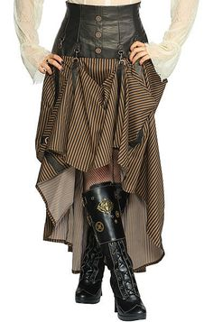 Steampunk Fashion Women | Intrepid Steampunk Skirt Living Dead Souls Voodoo Vixen Gothic Punk ...