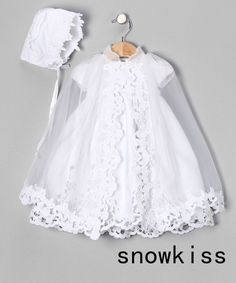 87.00$  Watch now - http://aliga4.worldwells.pw/go.php?t=32587628348 - Floor length Floor length Lace appliques Cheap Christening gowns baptism gowns with Bonnet for baby girls boys infant outfit