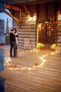 A romantic dockside proposal
