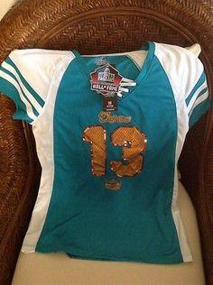 Miami Dolphins NFL Jersey NWT Dan Marino  13 majestic sz L Womens 1685ccdea