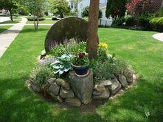 Faire une rocaille sous un arbre… Magnifique! 20 exemples (VIDEO)
