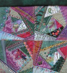 crazy quilt.  Good use of scraps and a cool, historic quilting style.