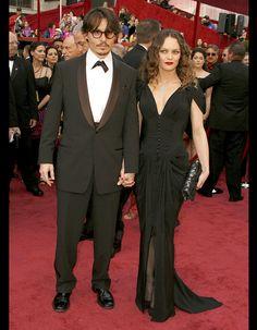 Johnny Depp et Vanessa Paradis en robe chanel 2008