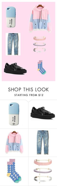 """""""awkward-pastel-boy"""" by ashgray-1 on Polyvore featuring Puma, Hollister Co., Happy Socks, men's fashion and menswear"""