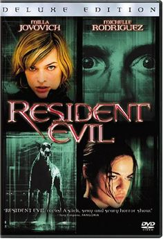 Resident Evil: Deluxe Edition on DVD from Sony Pictures Home Entertainment. Staring Milla Jovovich, Michelle Rodriguez, Martin Crewes and Eric Mabius. More Action, Horror and Zombies DVDs available @ DVD Empire. Milla Jovovich, Scary Movies, Great Movies, Horror Movies, Awesome Movies, Michelle Rodriguez, Tv Series Online, Movies Online, Resident Evil 2002