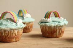 yummy muffin: Rainbow cupcakes Rainbow Cupcakes, Muffin, Desserts, Food, Tailgate Desserts, Deserts, Essen, Muffins, Postres