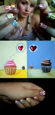 Cupcake nails by TinyTangerines