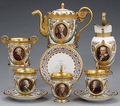1820 sevres portrait tea set