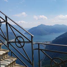 Lake Lugano - view from San Sebastian towards Italy