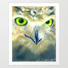 Owl++Art+Print+by+KennethShaw+-+$23.00