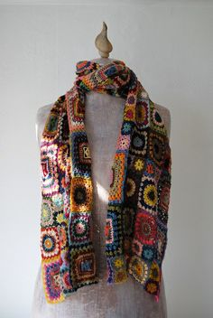 bohemian rhapsody crochet wrap. from mary lena lynx's flickr photostream.