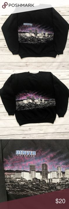90s Vintage Denver City Sweatshirt Large 90s Vintage Sweatshirt featuring Denver City. Gently worn with no rips, tears, or stains. Large and comfy with a cool 90s vibe. Perfect for fall and winter. Tops Sweatshirts & Hoodies