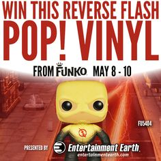 Run as fast as you can! Enter to WIN our Entertainment Earth Giveaway for The Flash Reverse Flash Pop! Vinyl Figure! Enter here: http://news.entertainmentearth.com/2015/05/08/funko-friday-giveaway-reverse-flash-pop-vinyl-figure/