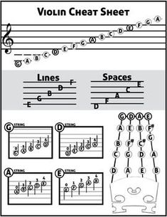 This FREE cheat sheet is great to print out and hand to beginning string students: violin, viola, cello, and bass. I asked my students to keep this in their music folder so that they can reference it during rehearsal and when they're practicing at home. #violinlessons