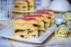 Prajitura Contesa | MiremircMiremirc Cream Cake, Ice Cream, Romanian Desserts, Cloud Bread, Croissant, Cake Cookies, Cake Recipes, Biscuits, Cheesecake