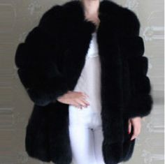 2015 New Fashion Fox Fur Coat Women Winter coat Medium Long Luxury Fur Coat Female Jacket Overcoat Mink Coat Winter Coats Women, Coats For Women, Jackets For Women, Fox Fur Coat, Pink Plastic, Blue Coats, Medium Long, New Fashion, Faux Fur