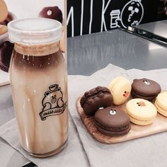 Image about food in dessert by vrln on We Heart It Eat This, Good Food, Yummy Food, Cafe Food, Mocca, Aesthetic Food, Brown Aesthetic, Korean Food, Korean Cafe