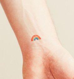 Riveting Small Rainbow Tattoo Tattoo Design August 2016