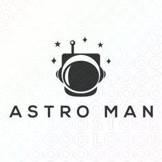 Creative Spaceman Astronaut Mascot Logo Design For Sale On StockLogos | Astro Man logo