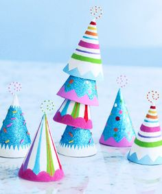 Take a look at this Party Hat Place Card Holder Set by Glitterville on #zulily today!