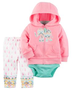 7dc43750cea Baby Girl 3-Piece Neon Little Jacket Set from Carters.com. Shop clothing