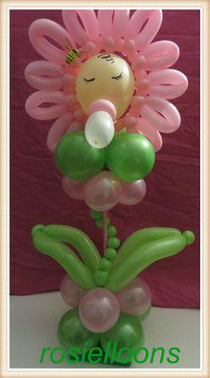 BABY SHOWER~ Flower balloon art by rosielloons