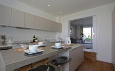 Kitchen in our show home at The Sands, Polzeath