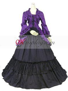 Purple Long Sleeve Gothic Lolita Dress