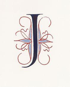 Letter J - Calligraphy by carmelscribe, via Flickr