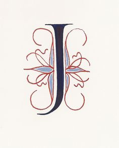Letter J - Calligraphy by carmelscribe, via Flickr